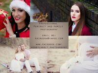 Professional glamour portrait and family photography