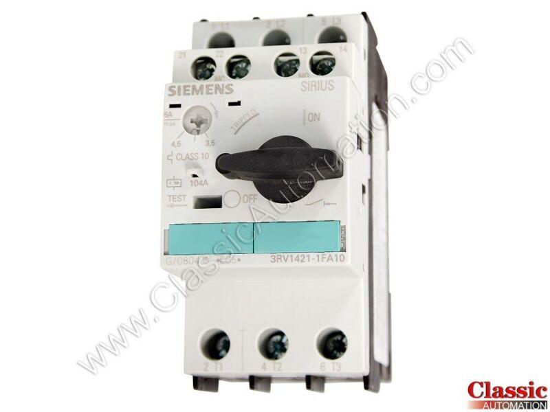 Siemens | 3RV1421-1FA10 | Circuit Breaker for Transformer Protection (Refurb)