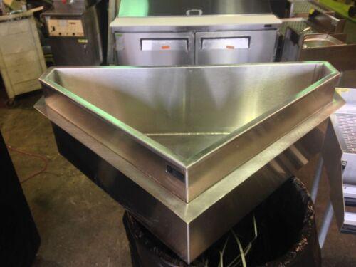 Krowne Drop-In Corner Ice Well - Stainless Steel
