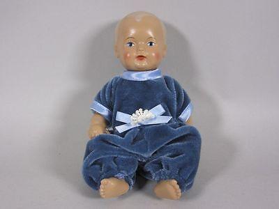 """Geschäftsaufl.: Schildkröt Puppe """"mit blauem Anzug"""" (ca. 16,0 cm) 3G5887"""