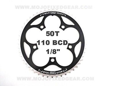 """144 BCD Track Fixie single speed 1//8/"""" BLACK MOJO Fixed Gear Chainring 53T"""
