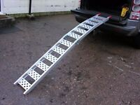 DOUBLE FOLDING ALUMINIUM RAMPS FOR MOBILITY SCOOTER WHEELCHAIRS VAN TRAILER CARS ATV QUAD ATC TRIKES