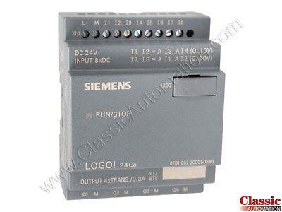 Siemens 6ed1052-2cc01-0ba6 Logo 24co 8di4ai4do 200 Blocks Refurbished