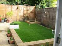 TURFING, SLABS, FENCING, GARDEN WORK