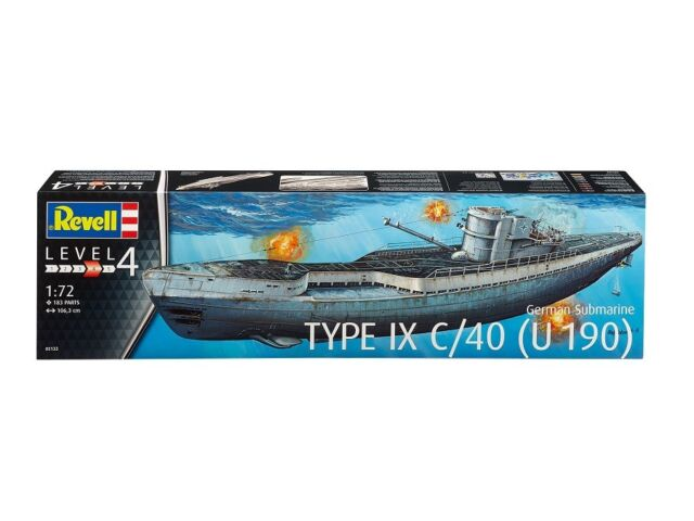 REVELL 05133 - 1/72 DEUTSCHES U-BOOT TYPE IX C/40 (U190) - NEU