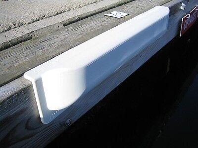 Dan-Fender White Straight Pontoon Dock Fender - Boating Yacht Docking HS14