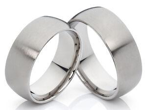 2-Trauringe-Eheringe-Verlobungsringe-Hochzeitsringe-Titan-mit-gratis-Gravur