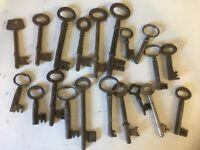 Selection of antique keys