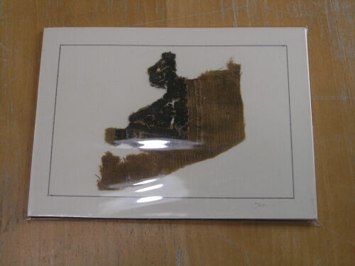 Ancient Egyptian Byzantine Coptic Textile Fragment 3rd 6th Century A.D. matted