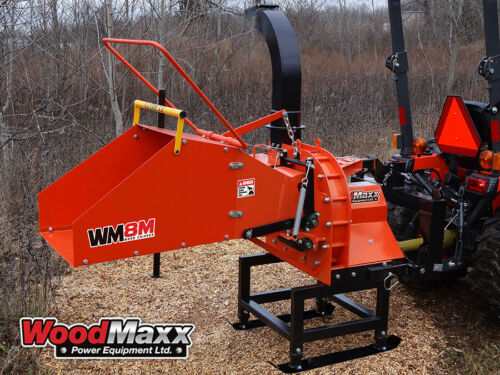 WoodMaxx WM-8M PTO Wood Chipper with Auto Feed