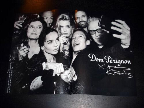 DOM PERIGNON x Lenny Kravitz 2-Pg Print Ad 2018 SUSAN SARANDON Harvey Keitel