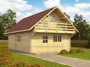 NEW SUMMERHOUSE FOR SALE! LINCOLN 6x9m, Log Cabin double walls(two storey,85sqm)