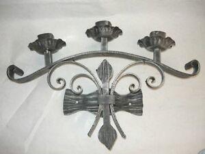 Applique appliques lampada da parete in ferro battuto ebay - Applique da parete in ferro battuto ...