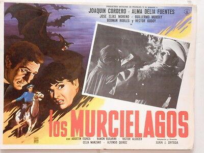 Los Murcielagos Lobby Card Poster Movie Horror Vampire Bats Cave Horror 1964