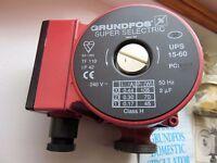 Grundfos UPS 15-60 Central heating pump. 130mm x 1.5 BSPM