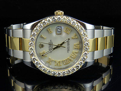 Brand New Mens 41 MM 116333 Rolex Date Just II Two Tone Diamond Watch 6.9 Ct