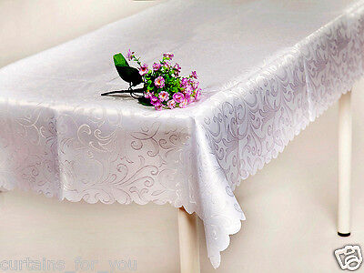 TABLECLOTHS STAIN RESISTANT VERY CHEAP VARIOUS SIZE WHITE ECRU AMAZING FOR YOU