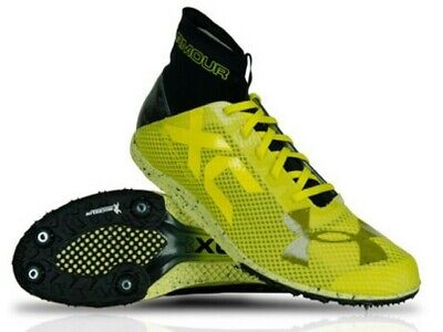 New Under Armour Bandit XC Yellow//Black Men/'s Cross Country Shoe 1273938 Mult Sz