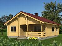 SIX ROOMED LOG HOUSE