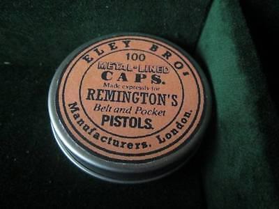 Reproduction Eley Bros Percussion Cap Tin ( Remington)