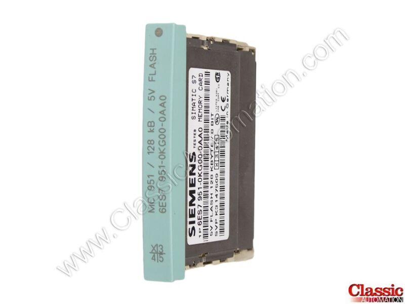 Siemens   6ES7951-0KG00-0AA0   Flash Memory Module - 128 KB (Refurbished)