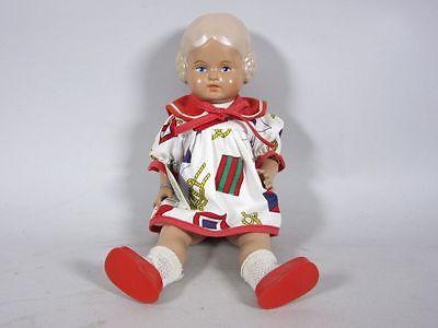 """Geschäftsaufl.: Schildkröt Puppe """"Bärbel"""" (ca. 25,0 cm) mit rotem Kleid  3G4272"""