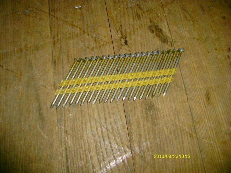 "NAILS 2-3/8"" X .120 COLLATED GALVANIZED ROUND HEAD 85417"