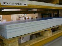 White pvc Hygienic wall cladding 8x4 foot