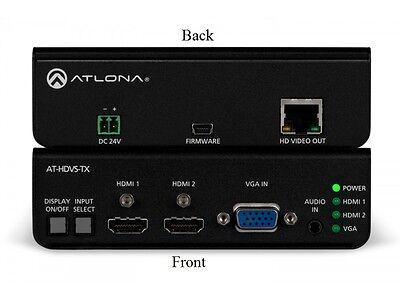 Atlona AT-HDVS-TX Dual HDMI and VGA/Audio to HDBaseT Switcher/Extender 4K Atlona Hdmi Extender
