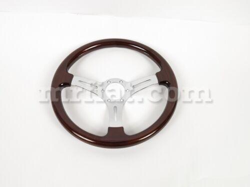 Alfa Romeo Spider Reddish Mahogany Wood Steering Wheel 360 Mm New
