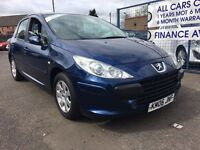 CAR FINANCE SPECIALISTS Peugeot 307, Stirling, Falkirk, Perth,Fife