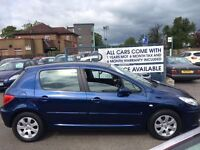 CAR FINANCE SPECIALISTS Peugeot 307