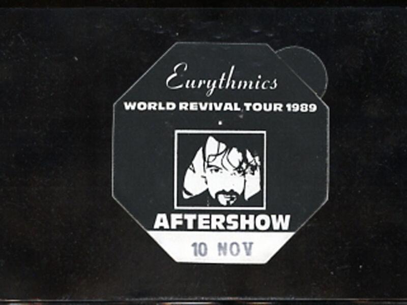 Eurythmics -1989 World Revival Tour - satin backstage pass - AFTER SHOW ONLY