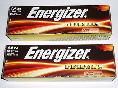 48 AA Energizer Industrial Alkaline Batteries  Exp Date 12-2