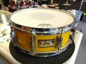 Pearl Masters Custom Maple Snare Drum/Caisse claire 14x5.5 Jaune Cantaloupe - used/usagée