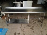 Wanted 7ft and 8ft stainless steel bench/tables catering