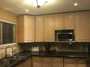 Kitchen with island marbles
