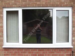 reflective bronze 20 50cm x 3m solar mirror one way window privacy tint film ebay. Black Bedroom Furniture Sets. Home Design Ideas
