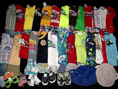 55pc USED BABY BOY NEWBORN 0-3 3-6 MONTHS SPRING SUMMER CLOTHES LOT FreeShip