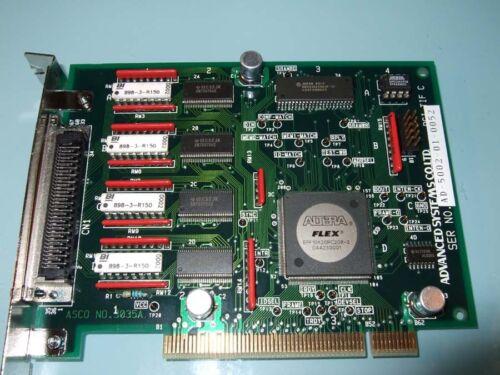 Advanced System Ad-5002 Asco No.3035a  Pci Card