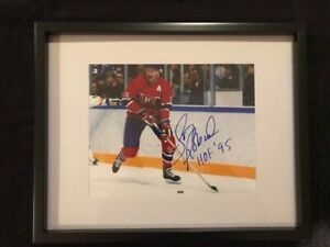 Montreal Canadiens Larry Robinson Signed and framed photo