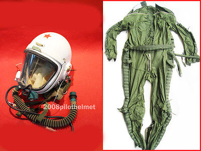 NEW Cloud Helmet High Altitude Astronaut Space Pilots Pressured 1A+FLIGHT SUIT