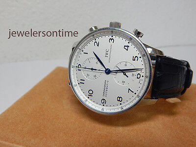 IWC SS Portuguese Chronograph ref 3714 with deployment clasp