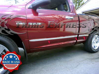 "2009-2018 Dodge Ram Regular Cab 6.4' Short Bed Flat Body Side Molding Trim 1.5"""