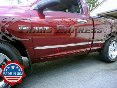 """fit:09-2018 Dodge Ram Regular Cab 6.4' Short Bed Flat Body Side Molding Trim 2"""""""