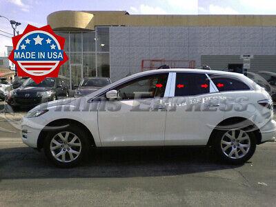 2007-2012 Mazda CX-7/CX7 Chrome 8Pc Pillar Post Stainless Steel Trim