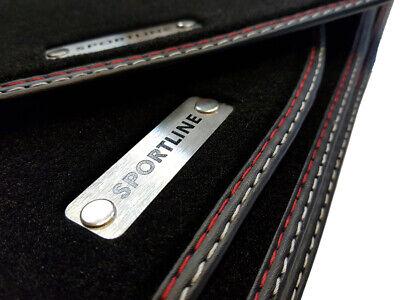 Sportline Fußmatten VW Bora Original Qualitat Velours Autoteppiche Metal Logo