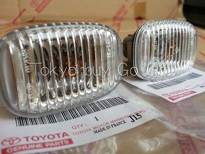 Toyota Supra Clear Side Turn Signal Lamp Lens Pair NEW Genuine OEM Parts 1993-98