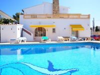 HOLIDAY RENTAL 'CASA BELLA' - LA FUSTERA - CALPE - COSTA BLANCA - ALICANTE - SLEEPS 9