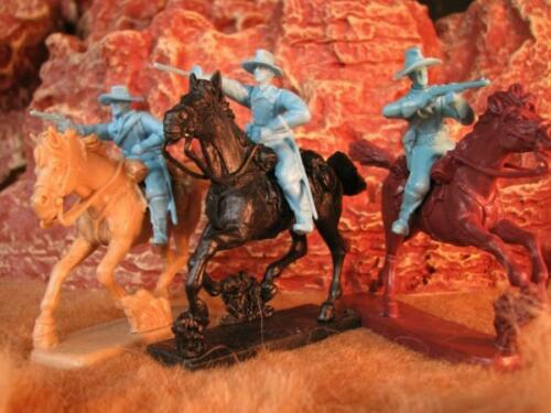 """Paragon PS005FLB """"Mounted Cavalry Set #3 (POWDER BLUE)"""" 54mm Plastic Soldiers"""